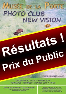 """Découvrez les résultats """"Prix du Public"""" de notre Exposition 2016 du Club au Musée De La Porte à TUBIZE!"""